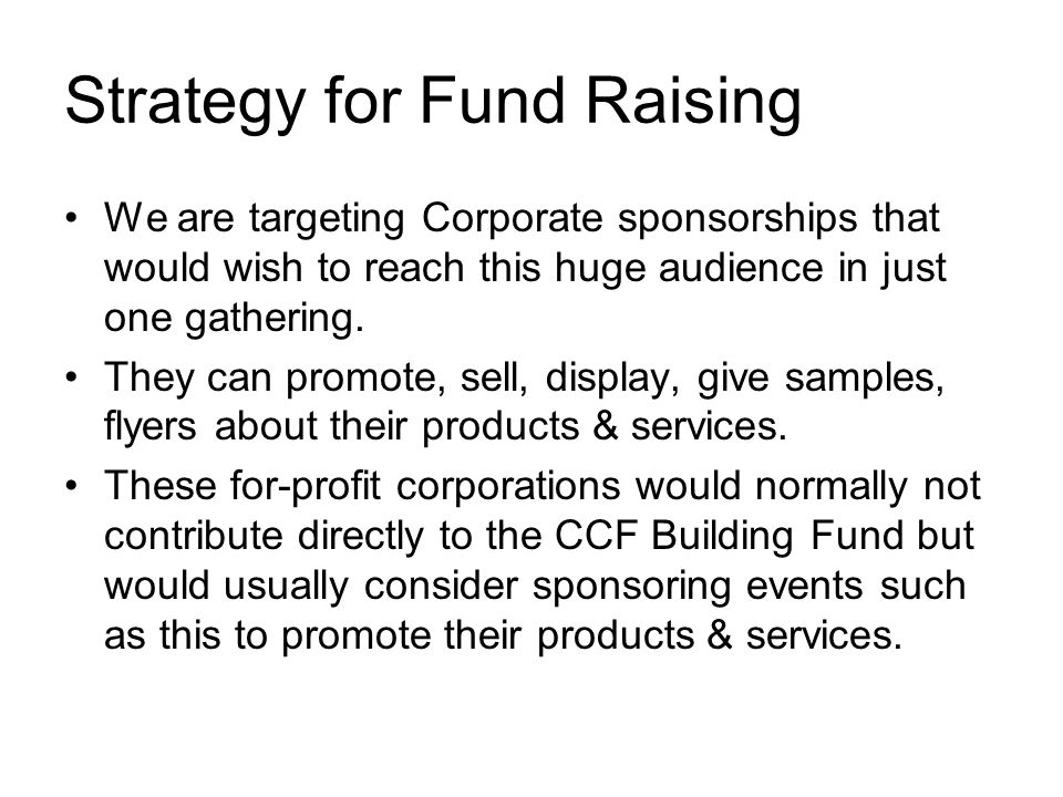 A CCF Total Athlete Network Event for the CCF Building Project - athlete sponsorship proposal template