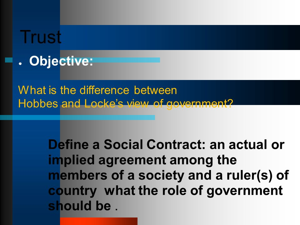 Differences between social contract theory john locke and Term paper - Differences Contract Agreement