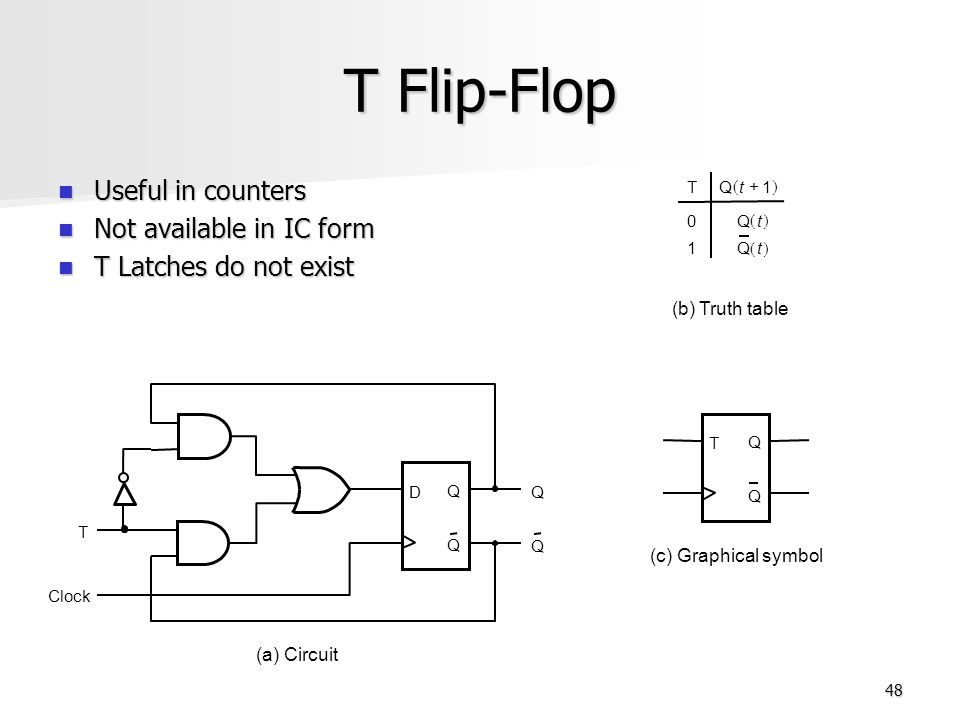 t flip flop logic diagram and truth table