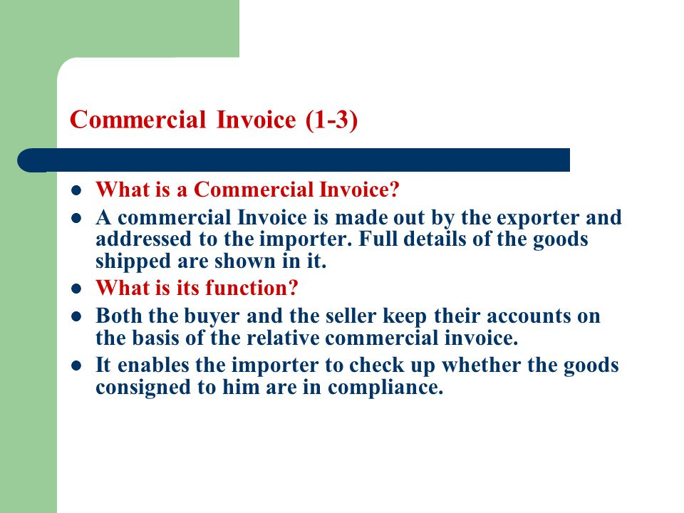 Commercial Invoice Commercial Invoice Form Template Commercial - commercial shipping invoice