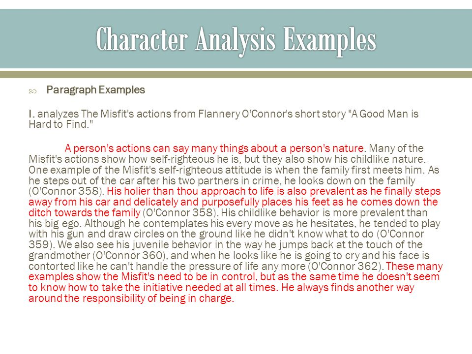 Come out the wilderness character analysis - College paper Sample