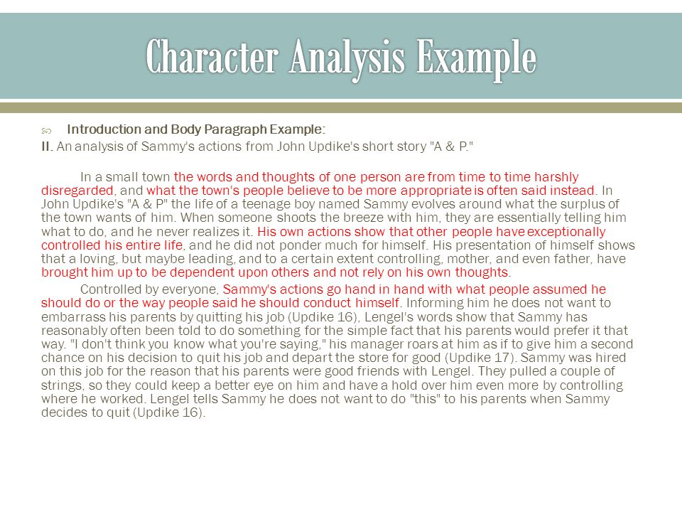 Notes on Character Analysis - ppt video online download - character analysis