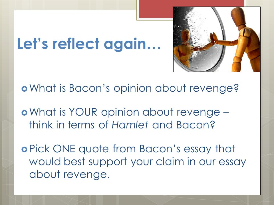 bacons essay on revenge by sir francis bacon ppt video online bacon