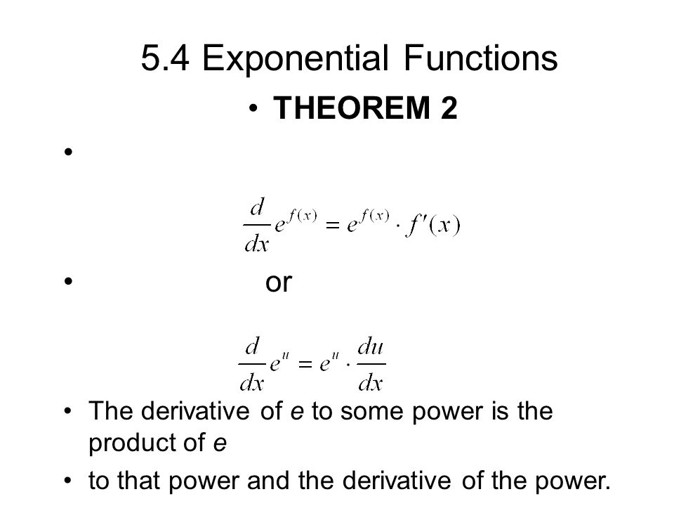 How to get derivative of exponential function