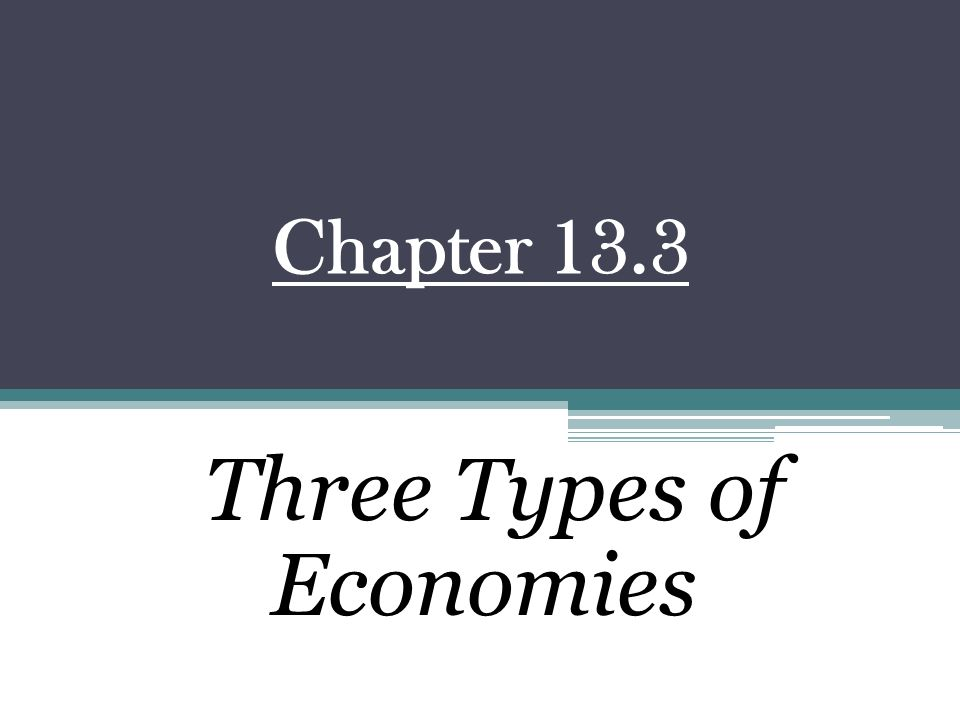 Three Types of Economies - ppt video online download