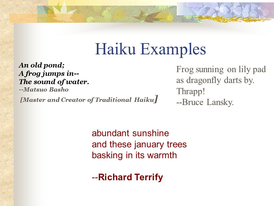 Amazing Haiku Haiku Is An Old Form Of Japanese Poetry Ppt Video