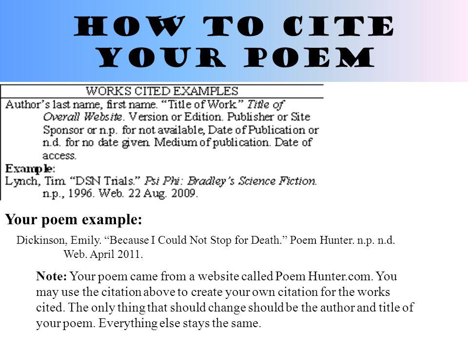 Quoting Poetry In An Essay Example Mistyhamel