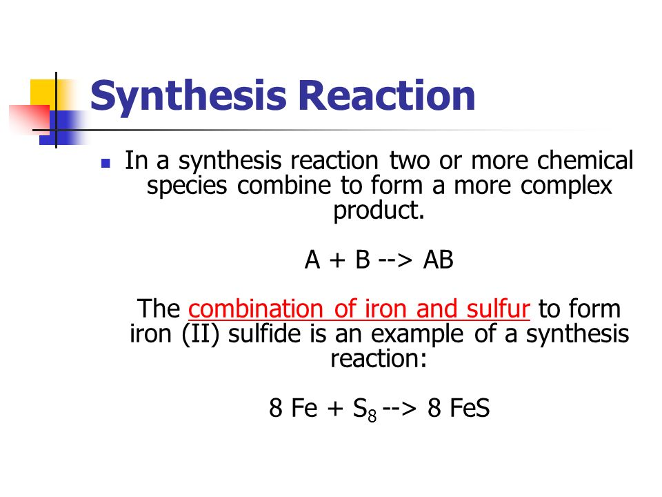Example Of Synthesis Reaction Images - example cover letter for resume - synthesis reaction