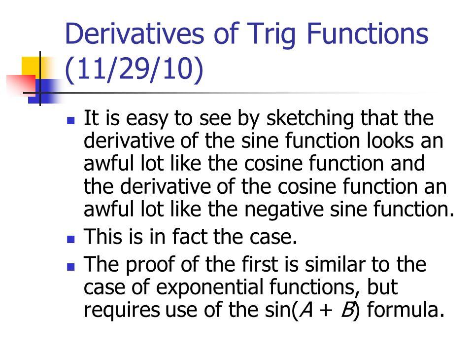 Derivatives Of Trig Functions Pics Download