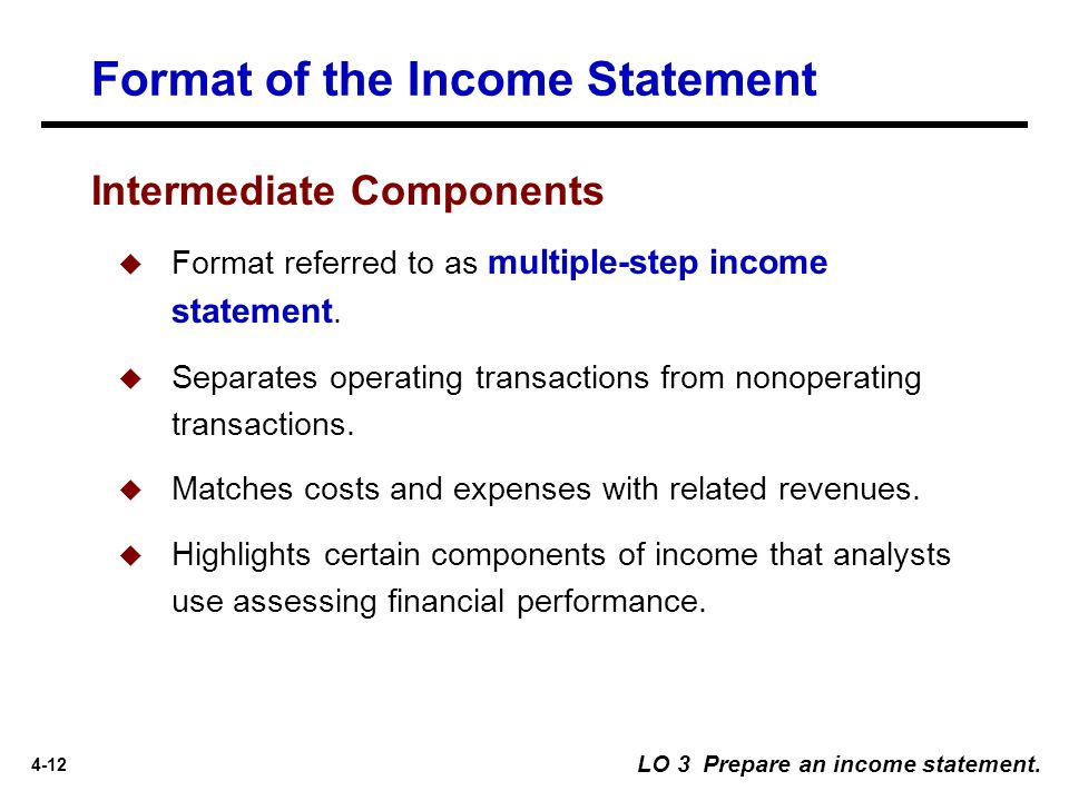 University of California Santa Barbara - ppt download - components of income statement