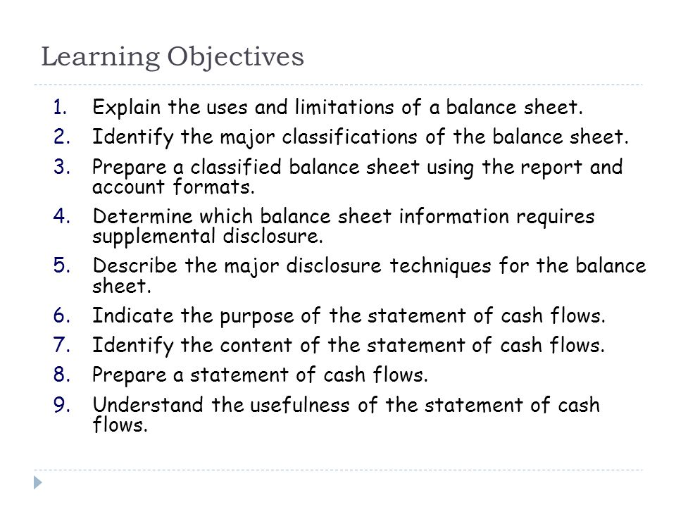 Balance Sheet and Statement of Cash Flows - ppt video online download - Balance Sheet Classified Format