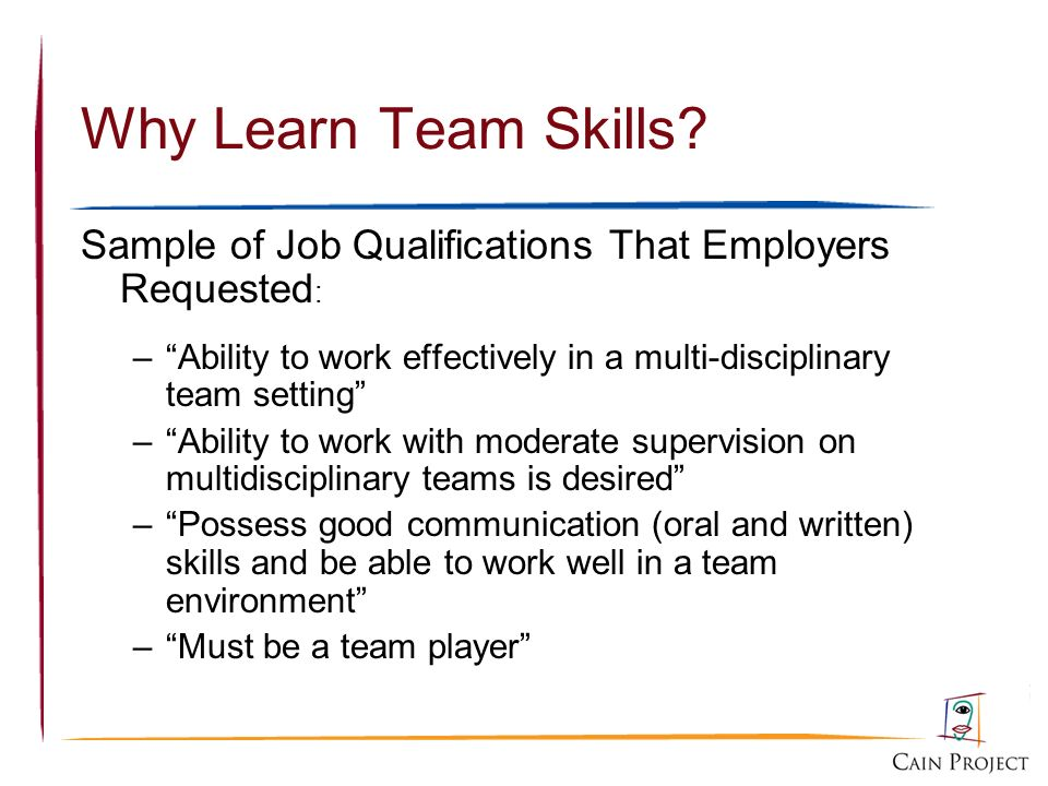 Working in Teams A Brief Introduction - ppt download - Good Job Qualifications