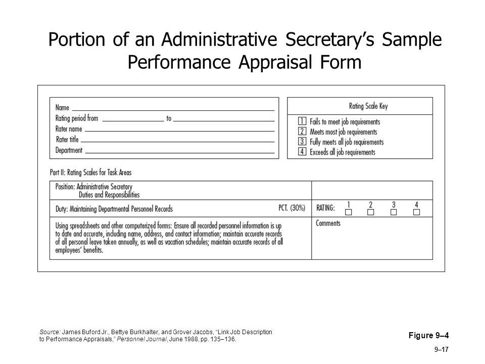 sample performance appraisal - Onwebioinnovate - sample performance appraisal form