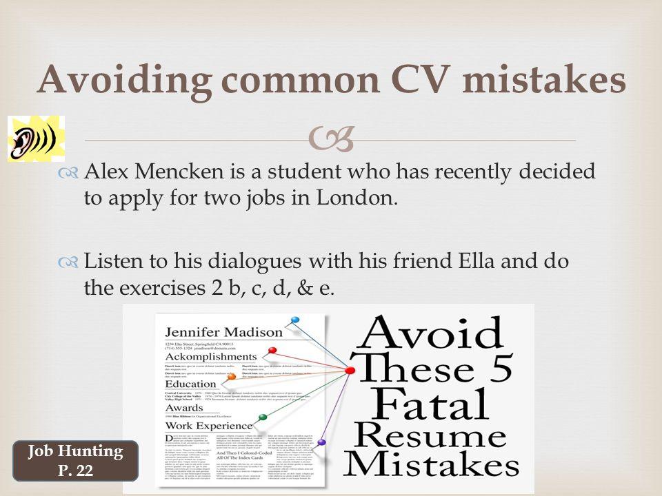 Beautiful Avoiding First Resume Mistakes Avoid Resume Mistakes with - avoiding first resume mistakes