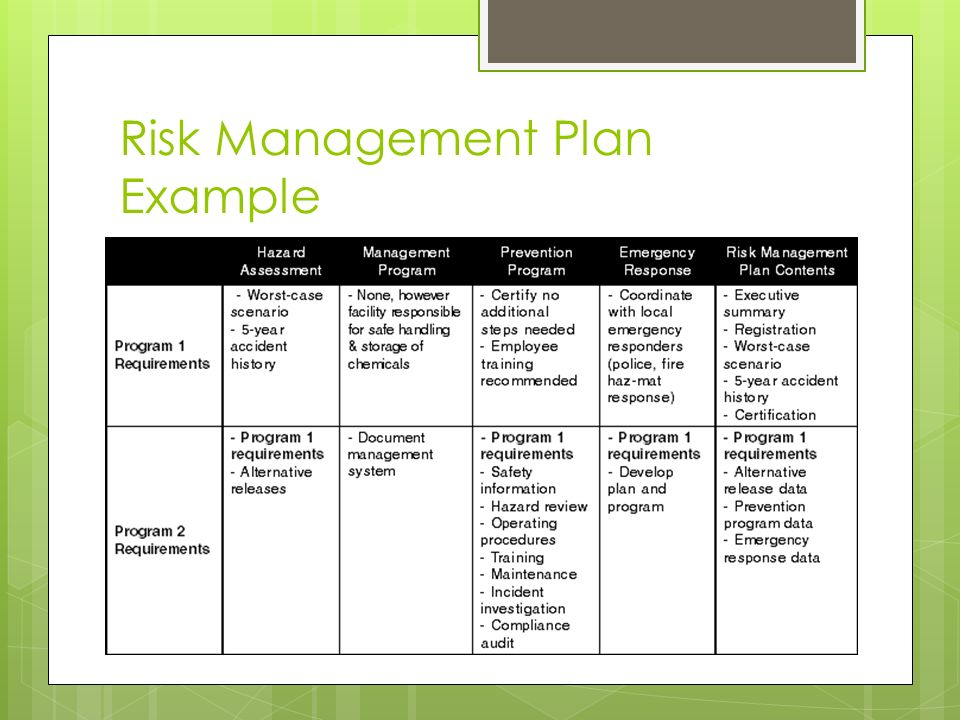 Business Risk Management Plan Template - Costumepartyrun