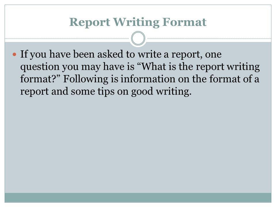 Report Writing Format If you have been asked to write a report, one - how to write an official report format