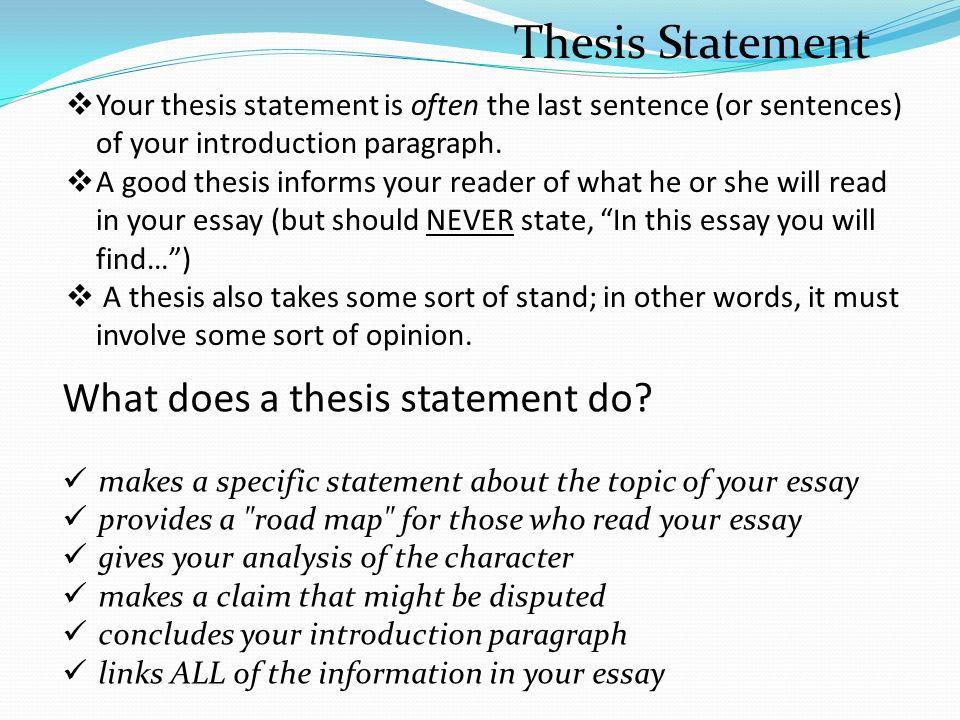 Character analysis essay writing help