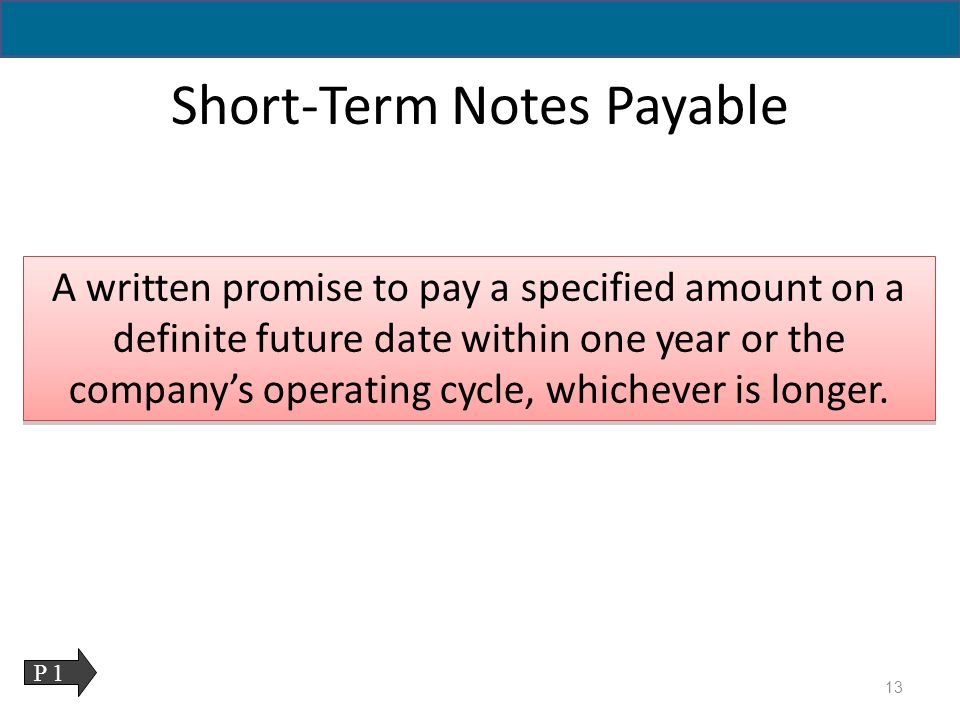 Accounting for Current Liabilities - ppt download - note payables