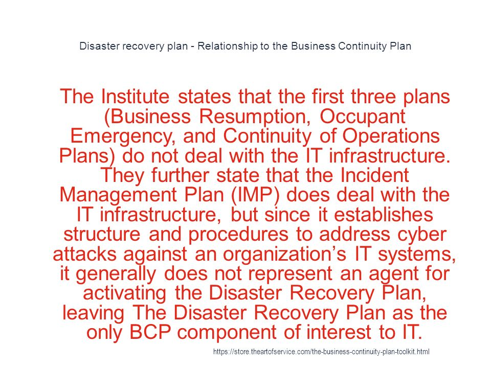 Business Continuity Plan - ppt download - recovery plans