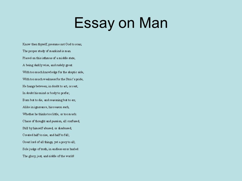 Essay on man heroic couplets / pixel-testnl - know then thyself presume not god to scan