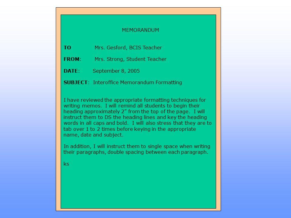 Standard Memorandum (Memo) Format - ppt video online download - interoffice memo format