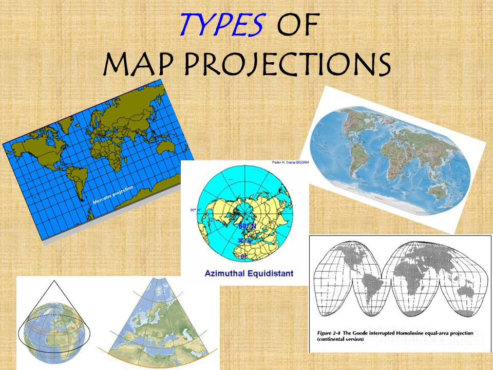 Examples Different Types Map Projections