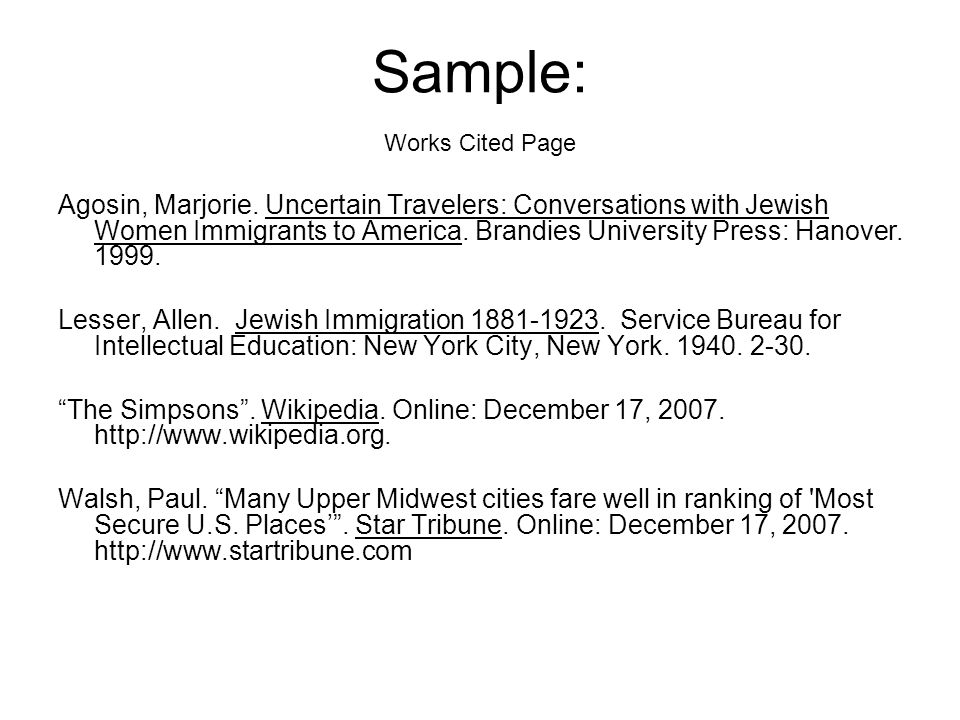 How To Write A Source Cited Page