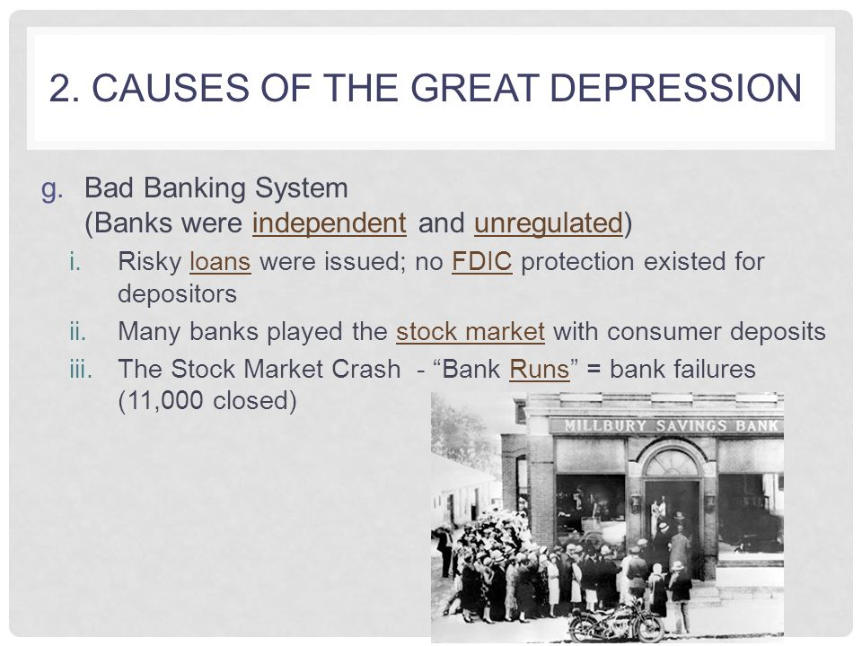 Great depression bank failures essays Term paper Service - essays about the great depression