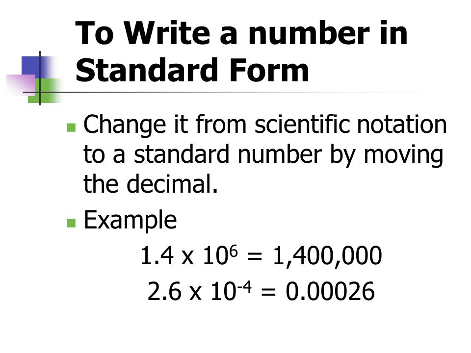 Writing A Number In Standard Form Image Collections Free Form