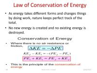 Physical Science Worksheet Conservation Of Energy ...
