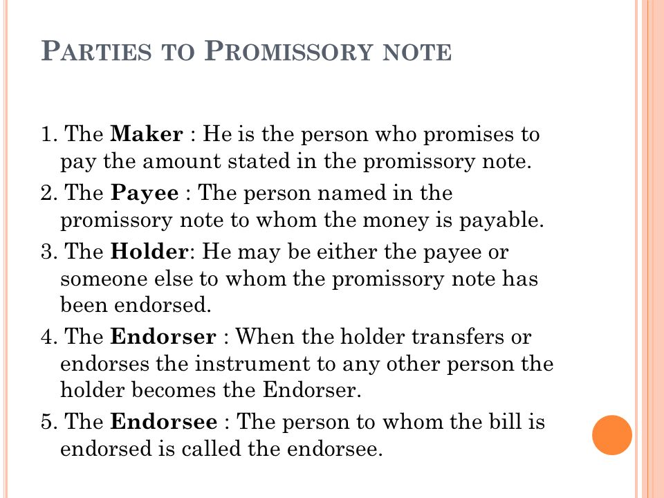 parties of promissory note - 28 images - template employee - parties of promissory note