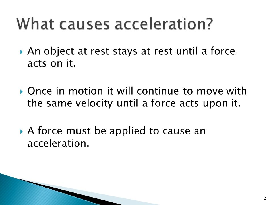 what causes acceleration - Ukransoochi