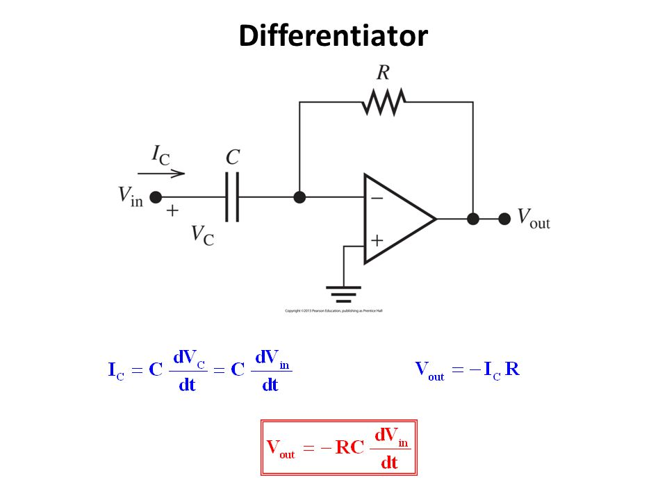 operational amplifiers the differentiator amplifier