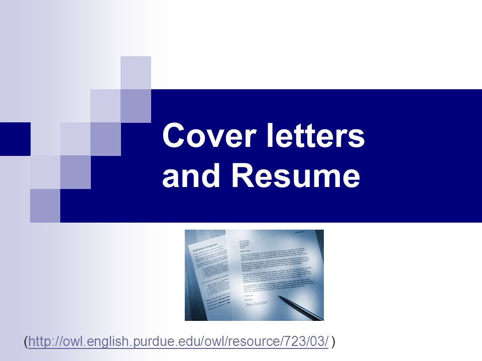 Cover letters and Resume - ppt video online download - purdue owl resume