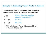 Printable Worksheets  Estimating Square Roots Worksheets