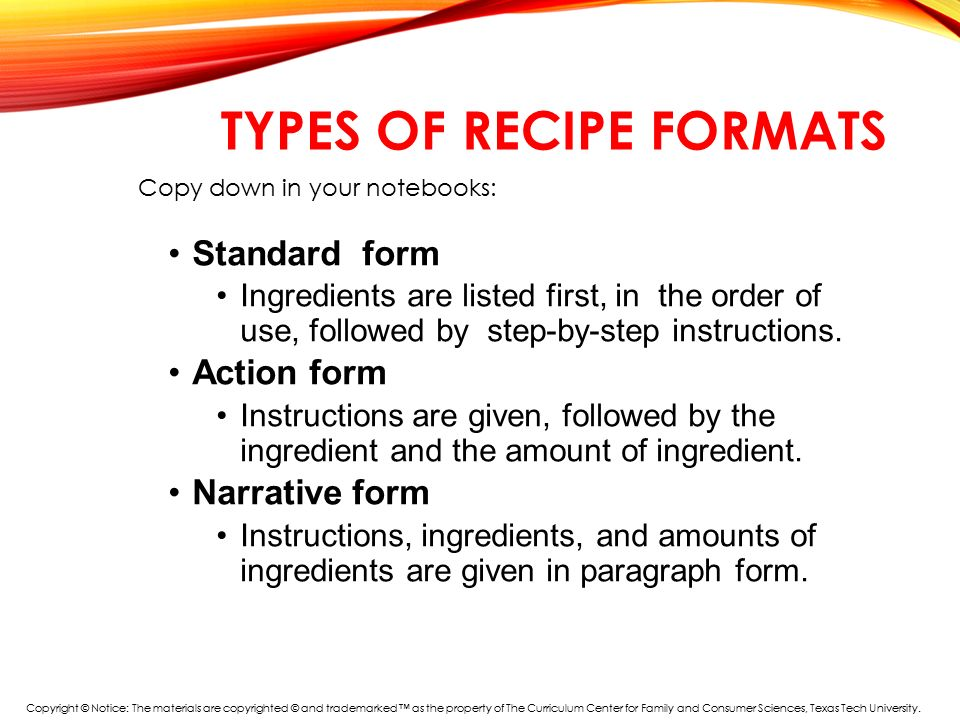Standardized Recipe Template Kicksneakers