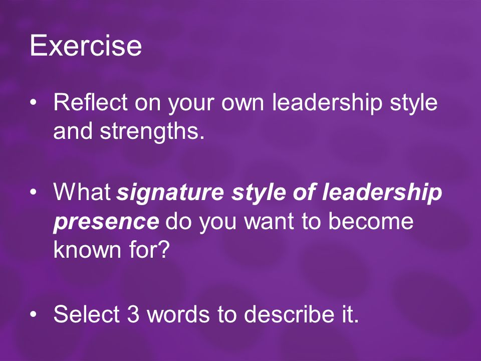 Describe Your Own Leadership Style Essay