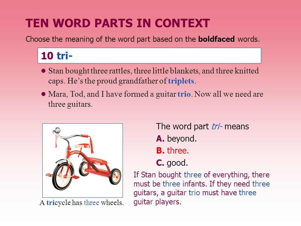 BUILDING VOCABULARY SKILLS - ppt video online download - tri words
