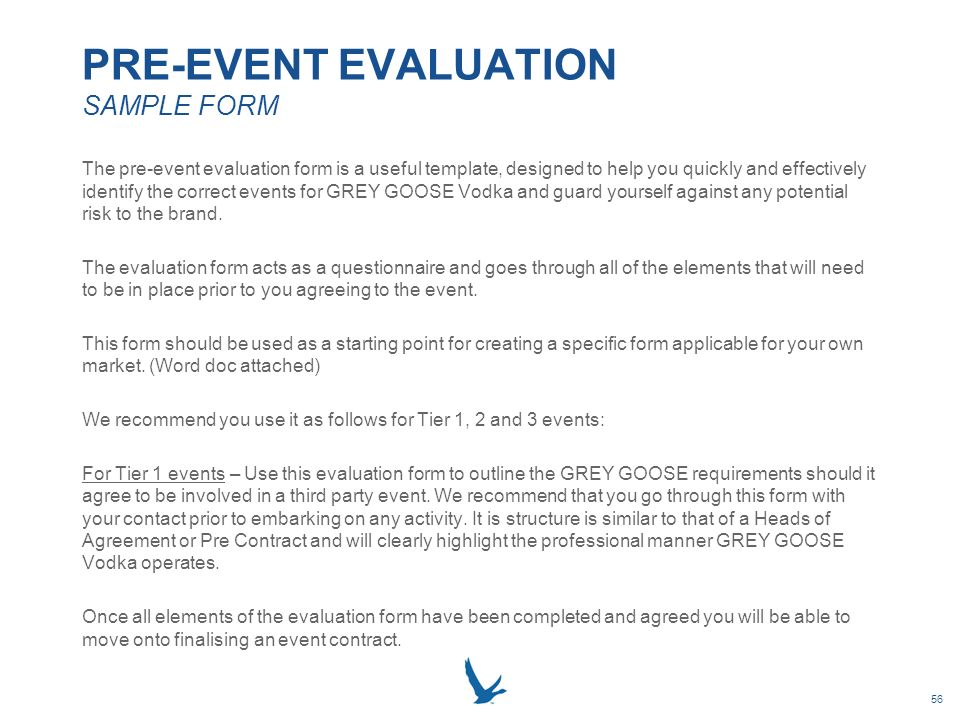 ... GREY GOOSE VODKA LOCAL MARKET EVENT RESOURCE BOOK   Ppt Download   Event  Evaluation ...