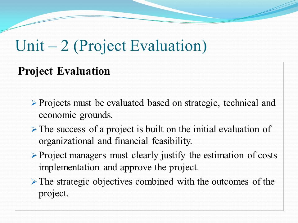 Software Project Management - ppt video online download - project evaluation