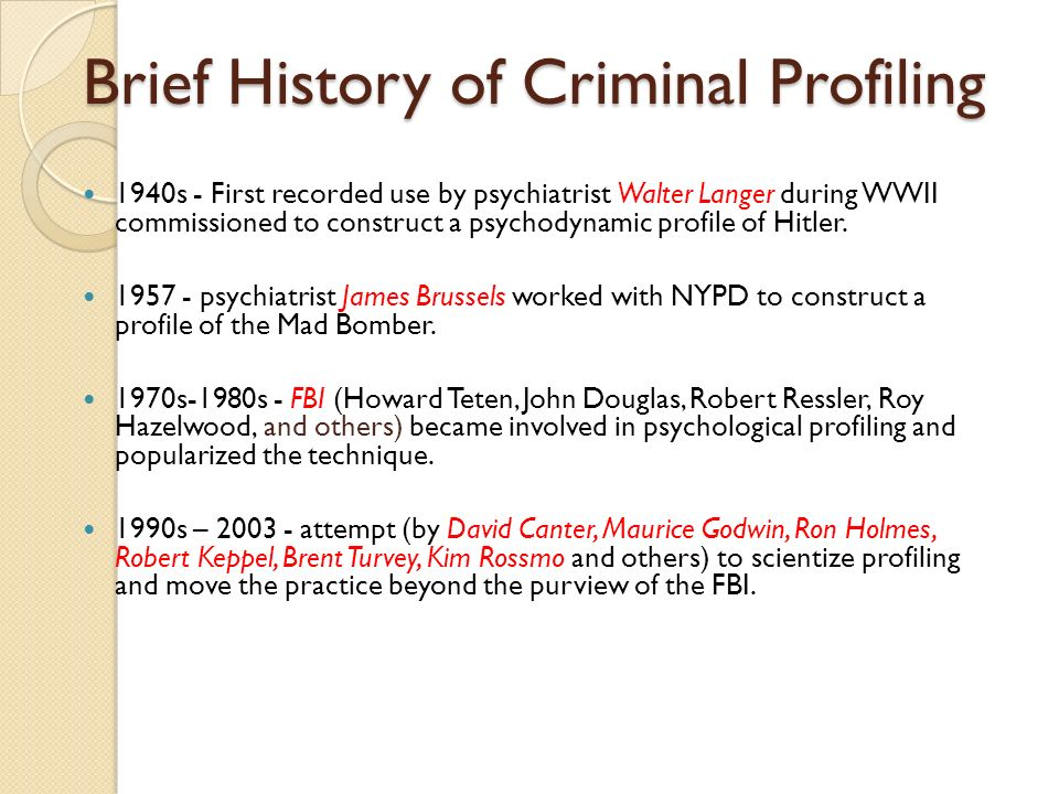 Introduction to Forensic Psychology - ppt video online download - criminal profile