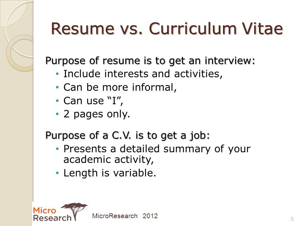 resume vs vita resummer co