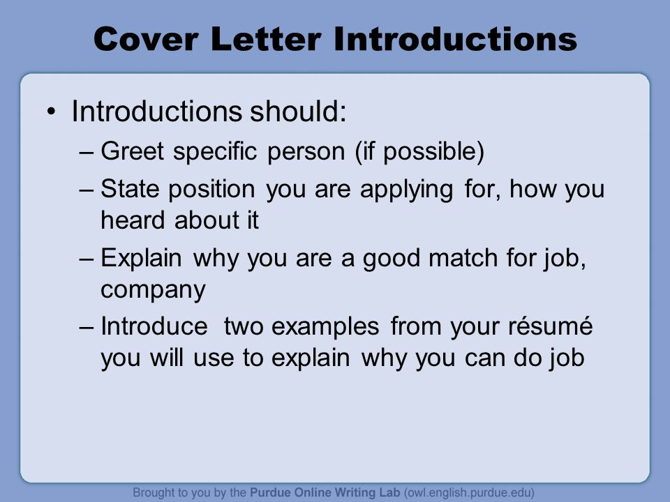 how to greet in a cover letter