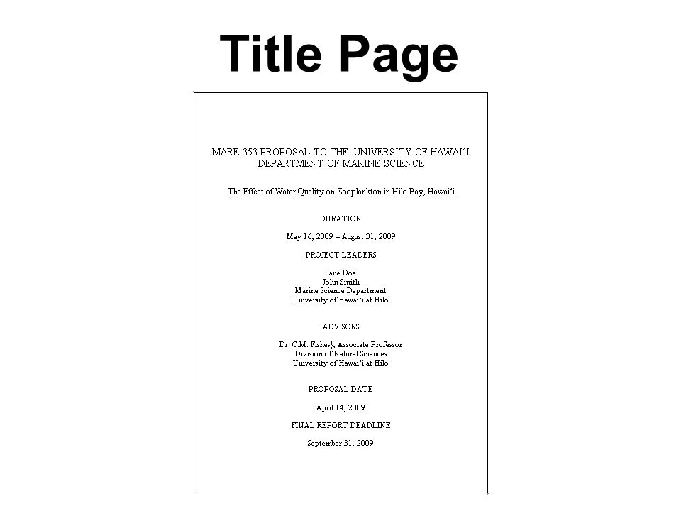 Project Proposal Report 6 Title Page Mare 103 Mop Proposal - project proposal