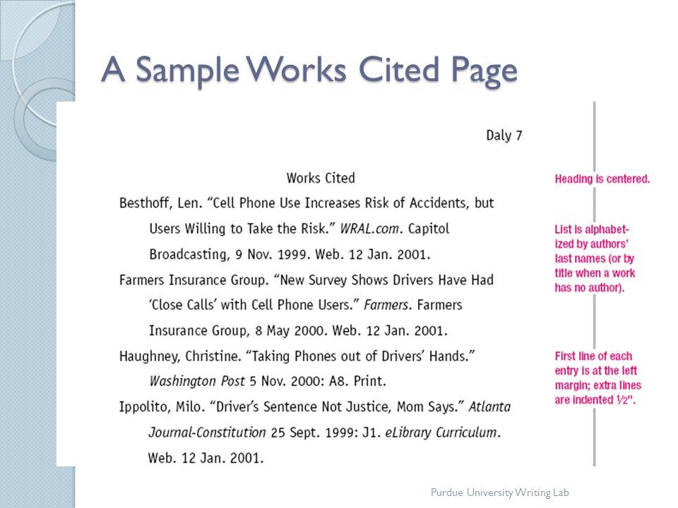 mla8 works cited - Peopledavidjoel