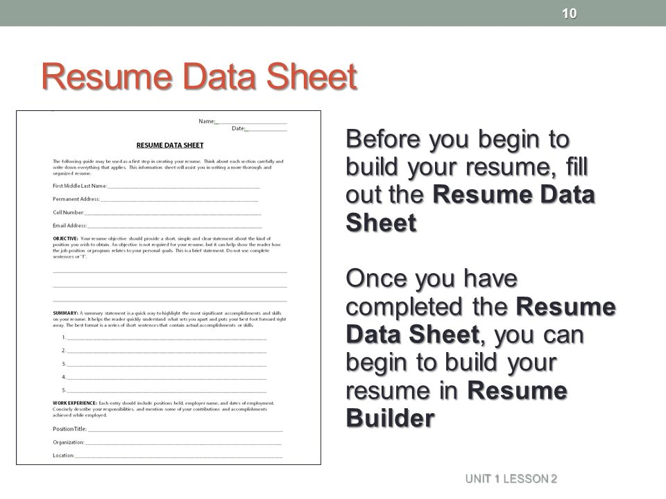 Resume Naviance Family Connection - ppt video online download - how to fill out a resume