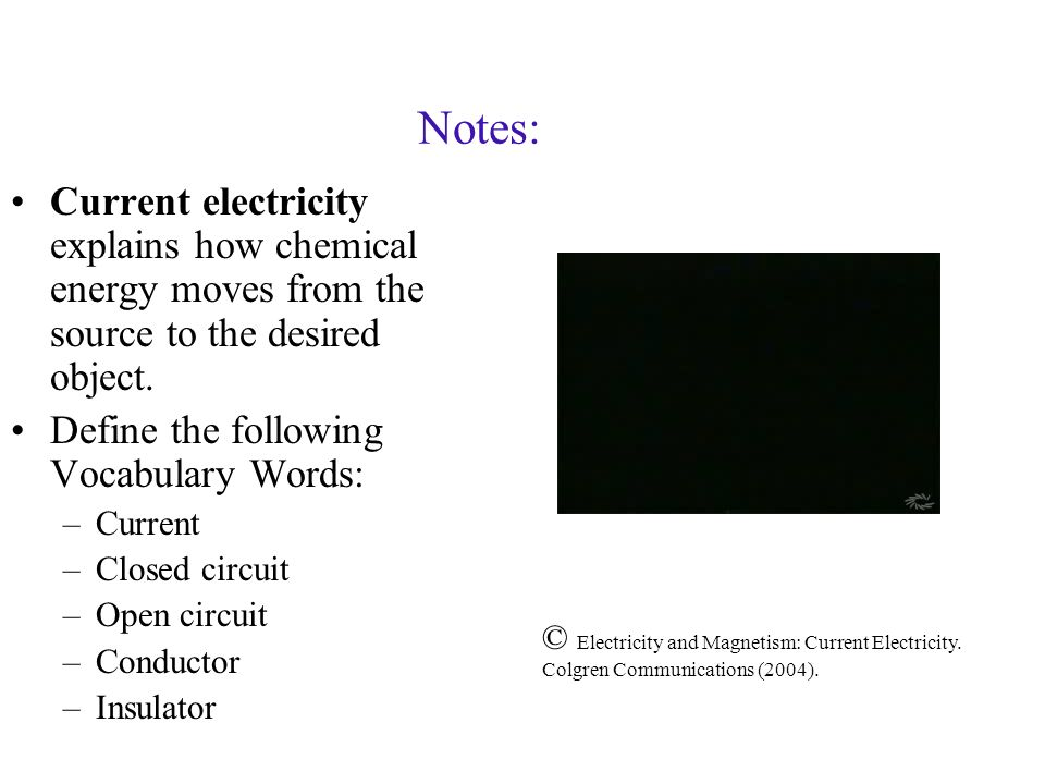 current electricity and magnetism 3