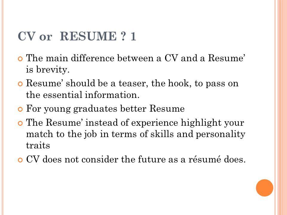 what is difference between resume and cv - Goalgoodwinmetals