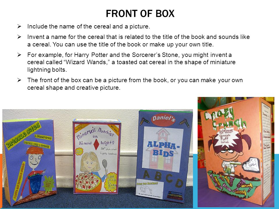 Cereal box book report sample cereal box book report ppt video box book report sample cereal ccuart Gallery