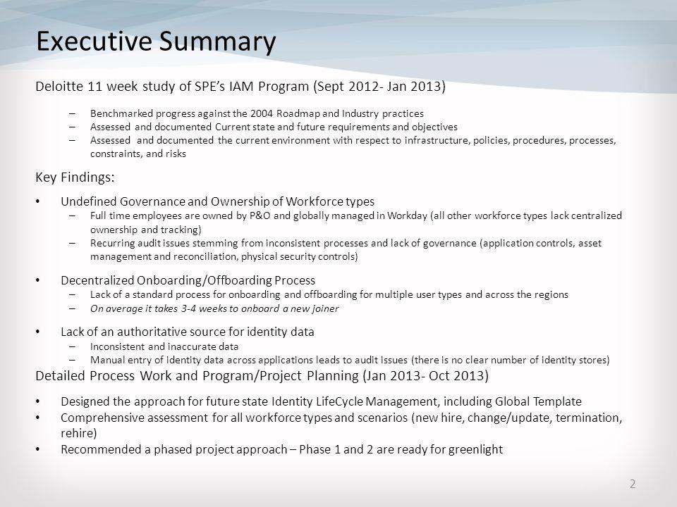 I AM SPE Identity Access management \u2013 Phase 1-2 (Governance
